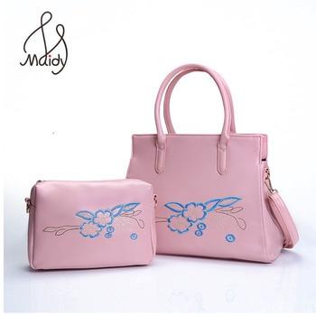 41191df2cb16 Милая Роскошные модные женские сумки вышивка цветок кожа тотализатор  Композитный сумка Crossbody известных брендов