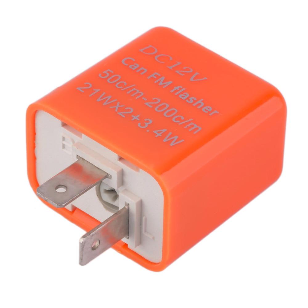 High Quality 2 Pins Motor LED Flasher Relay Fix 12V Flash Speed Adjustable Motorcycle Turn Light Signal Indicator Resistor