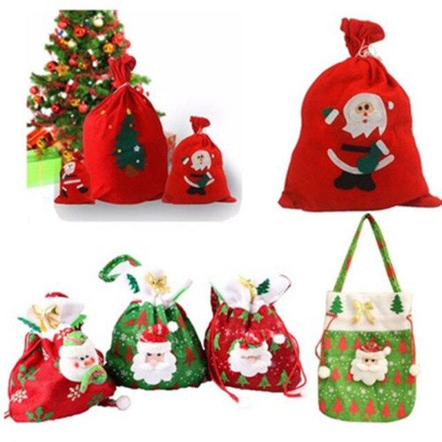 2018 Hot Santa Sack Father Christmas Gift Bags Present Bag Red Xmas ...