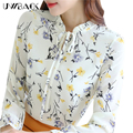 Uwback Spring Shirt Women 2017 New Print Chiffon Blouse Woman Plus Size 3XL Slim Floral OL Women Casual Tops And Blousa TB1373