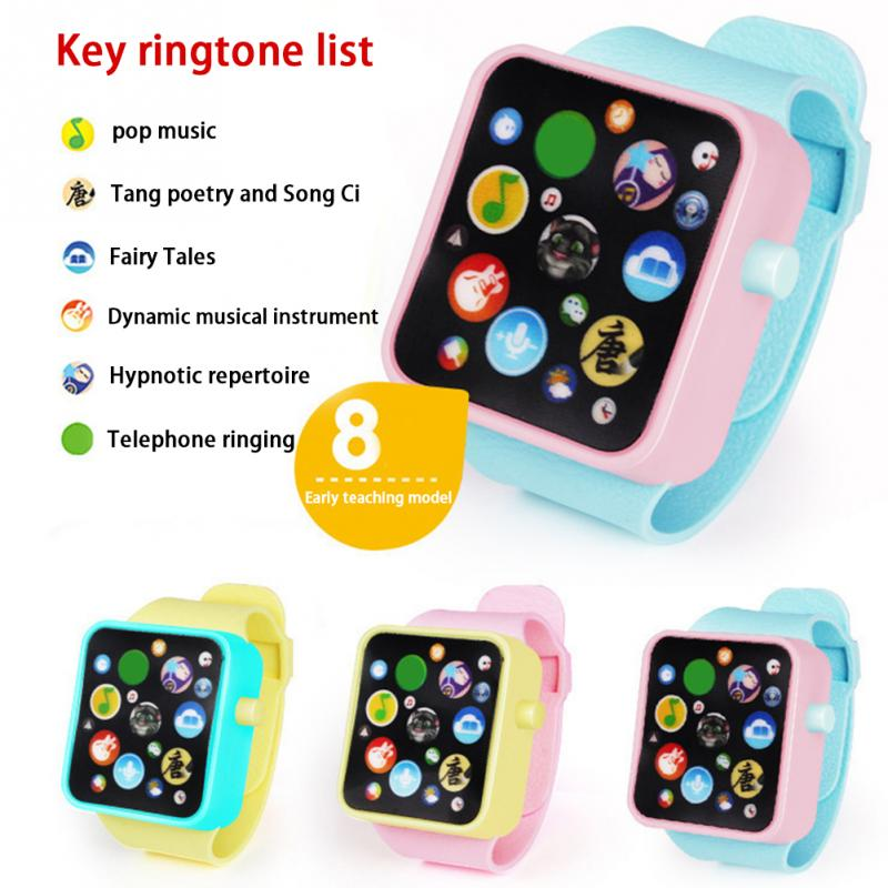 Hot New Children Kids Early Education Smart Watch Learning Machine 3dtouch Screen Electronic Wristwatches Toy Random Color