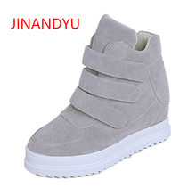 Autumn Winter Women Shoes Hidden Wedge Heels Boots Womens Elevator Botines Mujer 2018 Casual for Ankle