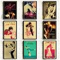 Плакаты для Грязных танцев, винтажный постер из крафт-бумаги для классических фильмов, декор для домашней комнаты, бара, настенное украшени...