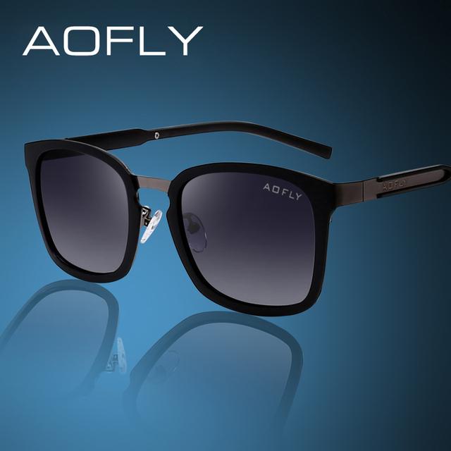 Aofly famosa marca gafas de sol polarizadas hombres cuadrado de la vendimia de conducción gafas de sol para los hombres/de las mujeres con la caja original gafas oculos