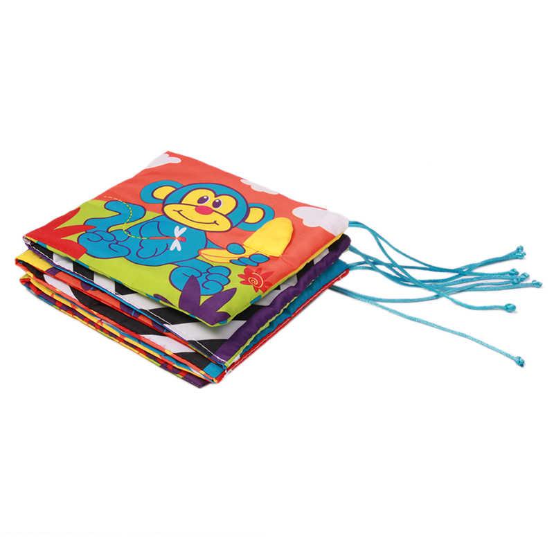 Brinquedos do bebê de Pano Do Bebê Livro de Conhecimento Em Torno de Multi-toque Cama Divertido Multifuncional E Dupla Cor Colorido Bumper
