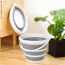 10L Buckets Portable Folding Collapsible Bucket Basin Travel Silicone Foot Bath Barrel for Fishing Promotion Camping Car Washing недорого