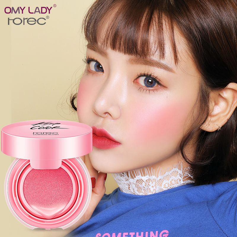 OMY LADY HANCHAN natural air cushion blusher easy to wear long lasting blusher Face Makeup Cream Blush Maquiagem Cushion Blusher
