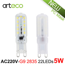 AC 220V G9 LED Lamp 5W 22LEDs SMD 2835 LED Lamp G9 LED Spotlight Replace Halogen Lamp Chandelier Crystal Light