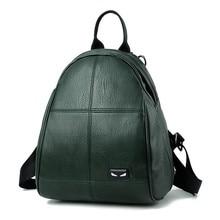 Лето 2017 г. новые сумки для женщина классический в сдержанном стиле для отдыха модные Корейский стиль рюкзак сплошной Цвет зеленый Черные и темно-красные туфли красный женская сумка