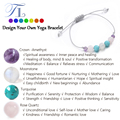 A&N New Arrival Mutil Color Healing Bracelets Natural Amethyst Moonstone Rose Quartz Turquoise Handmade Chakra Energy Bracelets