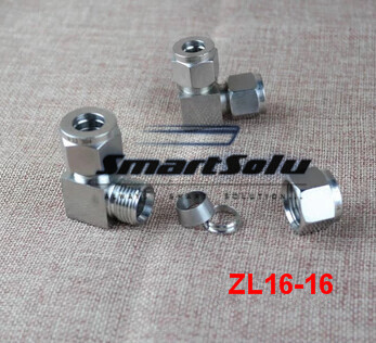 Free shipping Stainless 90 Compression Adapter, ZL16-16,Straight middle connectors,Connector Fitting  цена и фото