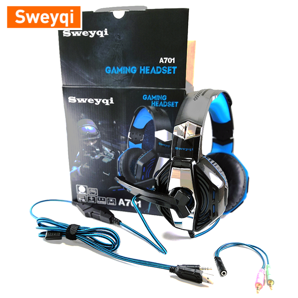 A701&A702 Gaming Headset and Data Transfer Line for Sweyqi A701&A702 Gaming Headset ,Standby Application, Solid and Durable image