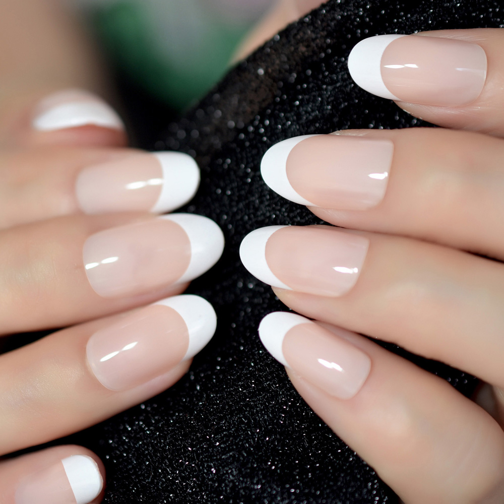Acrylic Nails French: Aliexpress.com : Buy Nail Art Salon Oval Acrylic French