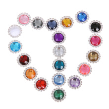 Sewing buttons 20pcs Crystal buttons for clothing sewing accessories women baby clothing material