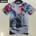 Dos Homens novos de Verão 3d T-shirt Da Marca de Design Criativo Impressão Das Mulheres Dos Homens T-Shirts Moda Gráfico 3d Psicodélicas Encabeça Hot Sale