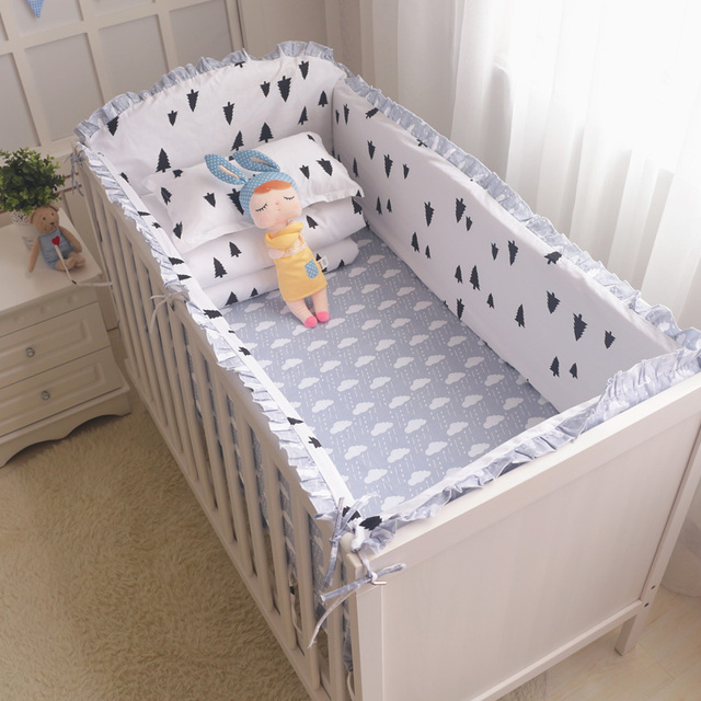 9PCS New Bedding Set In a Crib For Newborns, Bed Sheet Pillow Baby Quilt Bumpers In The Cot, Baby Bedding In The Crib Cot Set