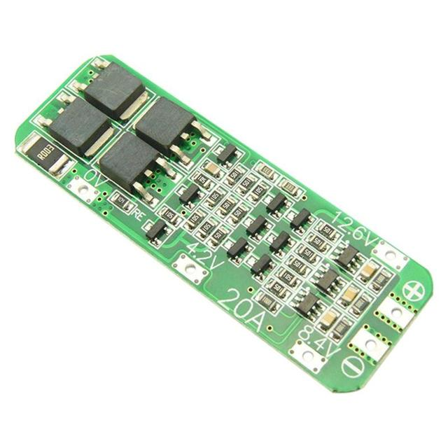 1 cái 3 s 20A Li-Ion Lithium Pin 18650 Sạc PCB BMS Ban Bảo Vệ 12.6 v Di Động 64x20x3.4 mét Mô-đun
