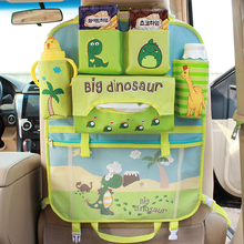 Cute Style Car Seat Back Organizer Storage Hanging Bags For Baby Kids Children Auto Seat Back