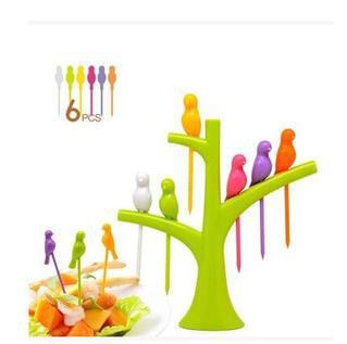 Livrare gratuită 160 seturi / lot Păsări de fructe cu furculiță - Bucătărie, sală de mese și bar