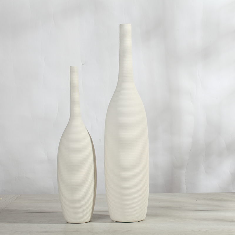 White ceramic vase ornaments size European style living room modern minimalist floral floral decorations Home Furnishing