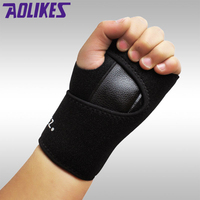 AOLIKES 1 Pair Weight Lifting Gym Training Sports Wristbands Wrist Support Straps Wraps Hand Carpal Tunnel