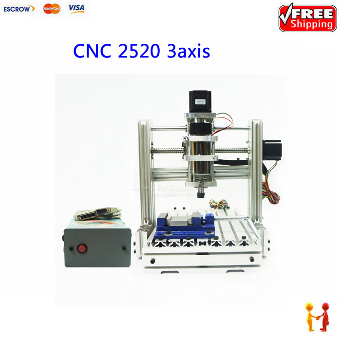 300W cnc router engraving machine mach3 control mini diy wood lathe 2520 3axis work stroke 200*300*95mm cnc routers for wood engraving mach 3 control system usb 600x900x100 mm working area