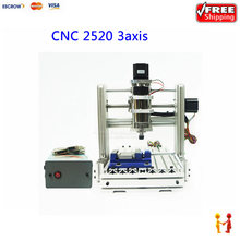 300W cnc router engraving machine mach3 control mini diy wood lathe 2520 3axis work stroke 200*300*95mm