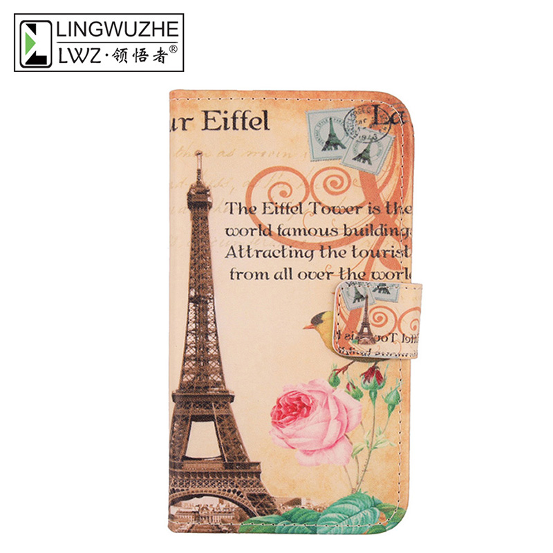 LINGWUZHE Minimalist Design Mobile Phone Case PU Leather Wallet Style Cover For THL Knight 2