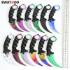 Swayboo real CSGO Counter Strike Karambit Knife Fixed Blade lore Tactical Hunting rainbow Survival Sheath Tiger Tooth Knifes 1
