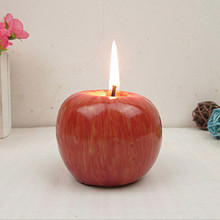 1PC Red Apple Shaped Fruit Scented Candle Christmas Sale candele Birthday Wedding Making Decorative bougie Candles Light