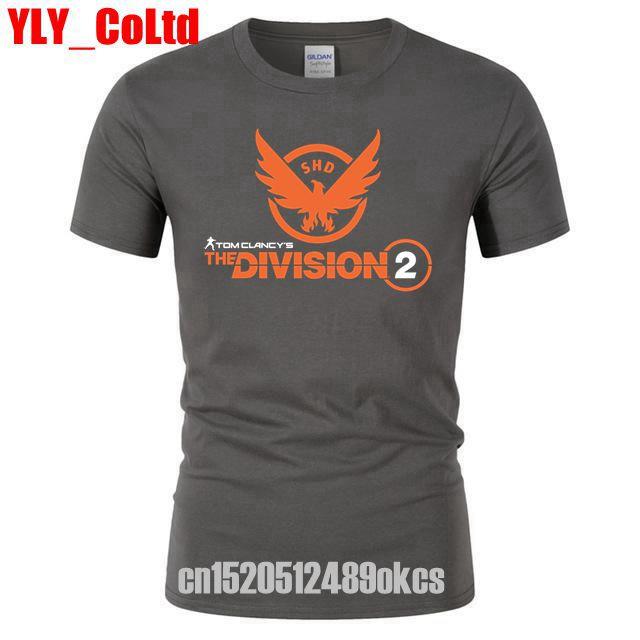 The Division 2 Tom Clancy's SHD PS4 Xbox PC Games Tee/TShirt/  Shirt   Male Hip Hop Funny Men Game Men's   T     Shirt   Women Tee TShirts