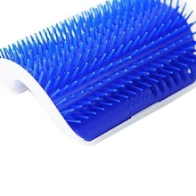 Pet Cat Brush Comb Play Juguete Plastic Scratch Bristles Arch Self-Groomer Masajeador Scratcher con Catnip clavado en la pared