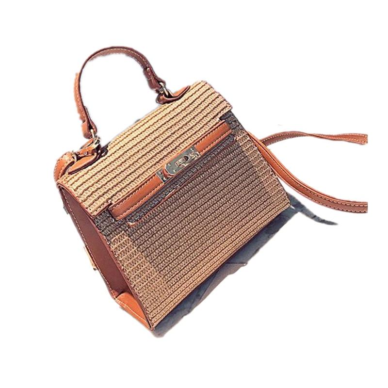 Lady Mini Straw Messenger Bag High Quality Beach Handbags Women Summer Fashion Travel Rattan Hand Bag