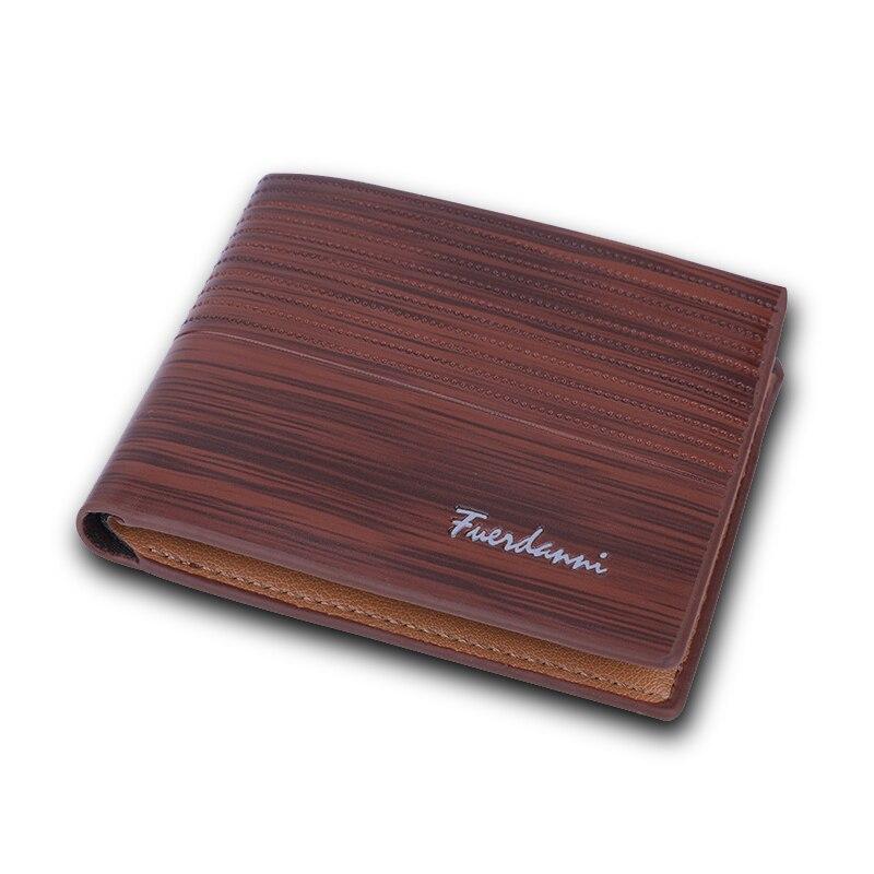 все цены на Fashion Men PU Leather Wallet Brand Design Wallets with Coin Pocket Purses Gift For Card Holder Bifold Male Money Bag онлайн
