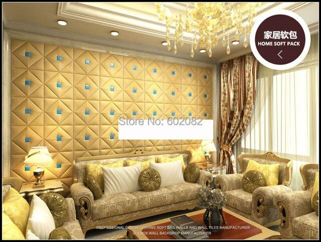 High Quality 16pcs home decoration Leather Acoustic Panels 3D Panels ...