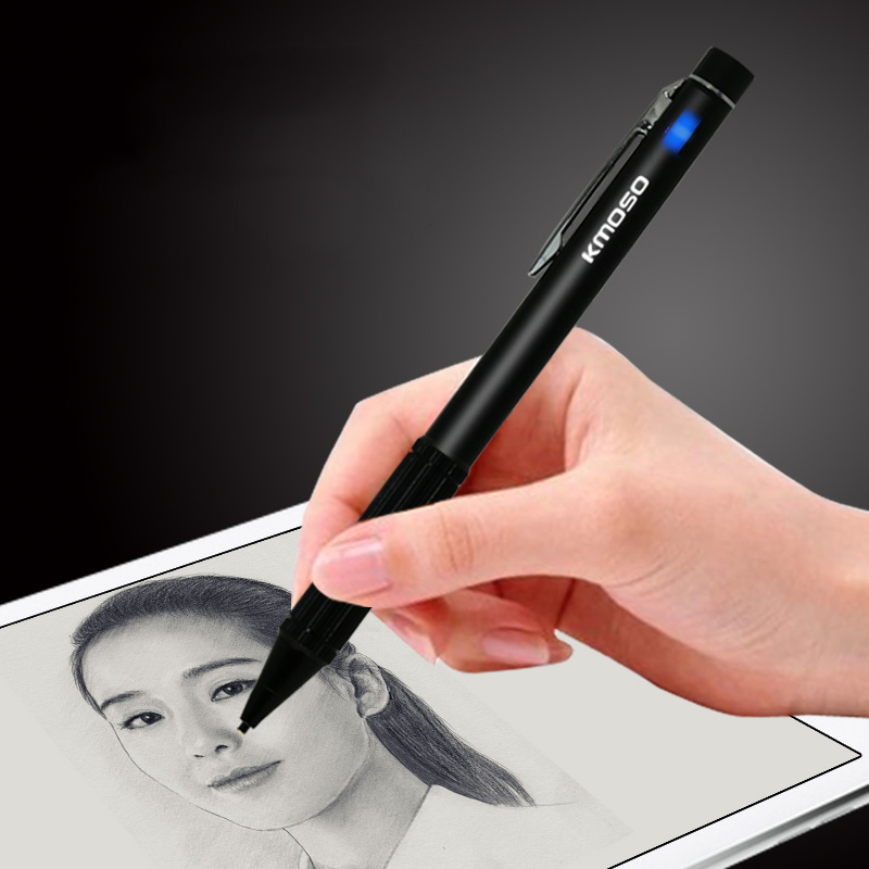 Universal Smart Stylus Active Touch Pen for iPad Pro ,Rechargeable Pencil Touchscreen Input Devices for tablet pc Smartphones universal 2 in 1 mobile phone stylus pen drawing pencil black