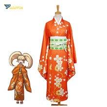 Super Danganronpa 2 Hiyoko Saionji Kimono Costume Full Set