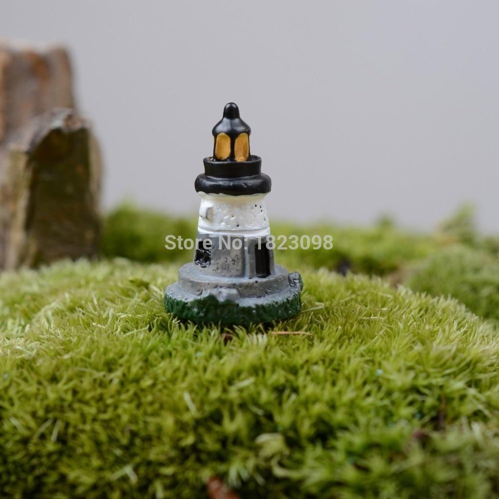 Sale 1 Pcs/lot mini Tower resin Pyramid 3cm fairy garden decor ...