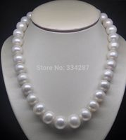 18 Natural huge 12 13mm AA level white pearl necklace