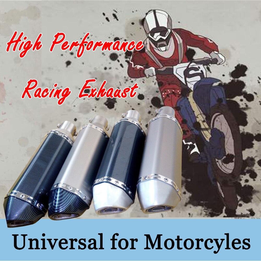 35-51 MM Universal motorcycle racing moto di Scarico Modificato PER Akrapovic Fuga Muffola tubo di misura la maggior parte del motociclo ATV Scooter