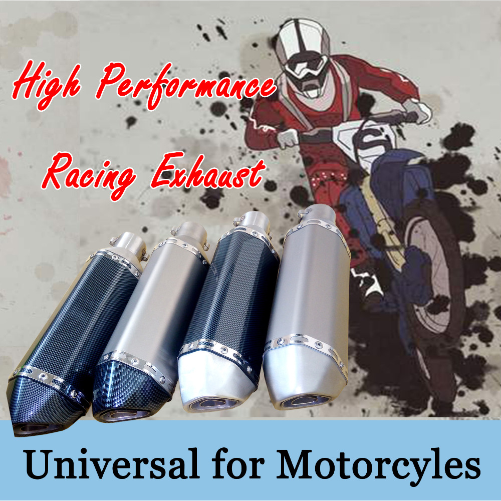 35-51MM Universal motorcycle Modified Akrapovic Exhaust moto Escape Muffle pipe universal fit for motorcycle ATV Scooter modified akrapovic exhaust escape moto silencer 100cc 125cc 150cc gy6 scooter motorcycle cbr jog rsz dirt pit bike accessories