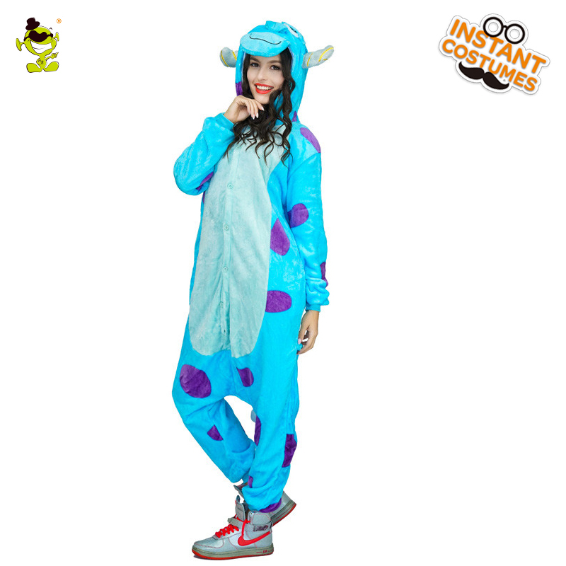 High Quality James P.Sullivan Pajama Woman Cute Pajamas Costumes Carnival Party Adult Hooded Dressup Funny Animal Sleepwear