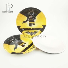 Party supplies 8PCS 7inch Batman theme party disposable tableware paper plate dishes white cardboard with food film & Popular Batman Paper Plates-Buy Cheap Batman Paper Plates lots from ...