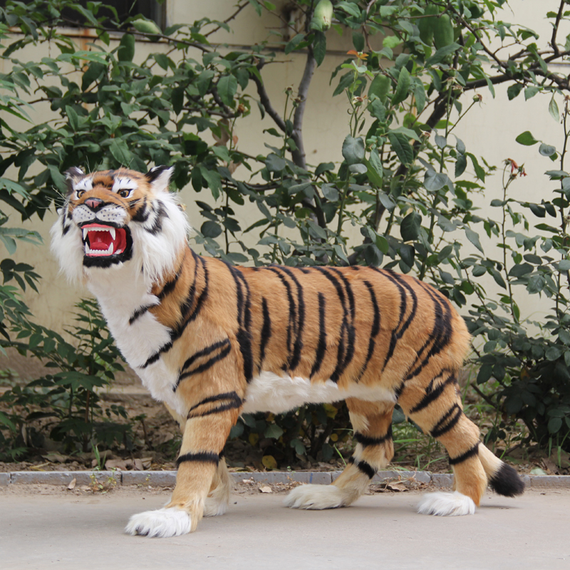 big simulation tiger toy polyethylene&furs standing tiger model doll about 110x70cm 0576 simulation chicken 38x16x42cm toy model polyethylene
