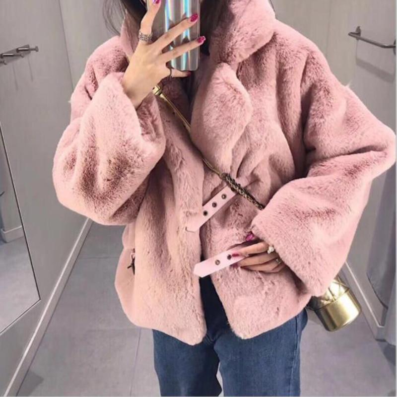 Abrigo piel suelta pelo