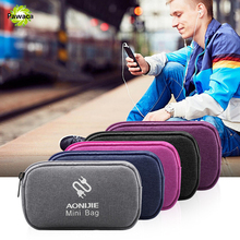 Waterproof Portable Data Cable Storage Bag Digital Storage Box Mobile Hard Disk Charger U Disk Finishing Package Headset Box dual hard disk array cabinet 3 5 hard disk array with raid function 4 modes usb3 1 type c disk array box 2 bay data backup