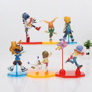 Image 3 - 11cm Digital Digimon Figure ISHIDA YAMATO Gabumon yagami taichi Sora agumon PVC Action Figure Digimon Colletion Model Toy