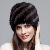 Winter Mink Fur Hat For Genuine Women Pineapple Natural Fur Russian Hat Hats Cap 2016 Of