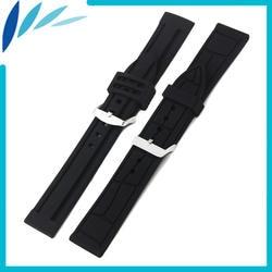 Силиконовой резины Смотреть Band 20 мм 22 24 для Jacques Lemans ремешок на запястье петли ремня браслет черный для мужчин женщин + инструмент