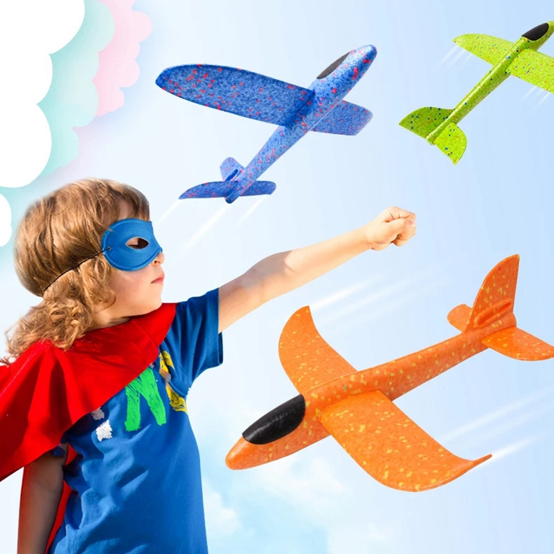 DIY Kids Toys Hand Throw Flying Glider Planes Foam Aeroplane Model Party Bag Fillers Flying Glider Plane Toys For Kids Game